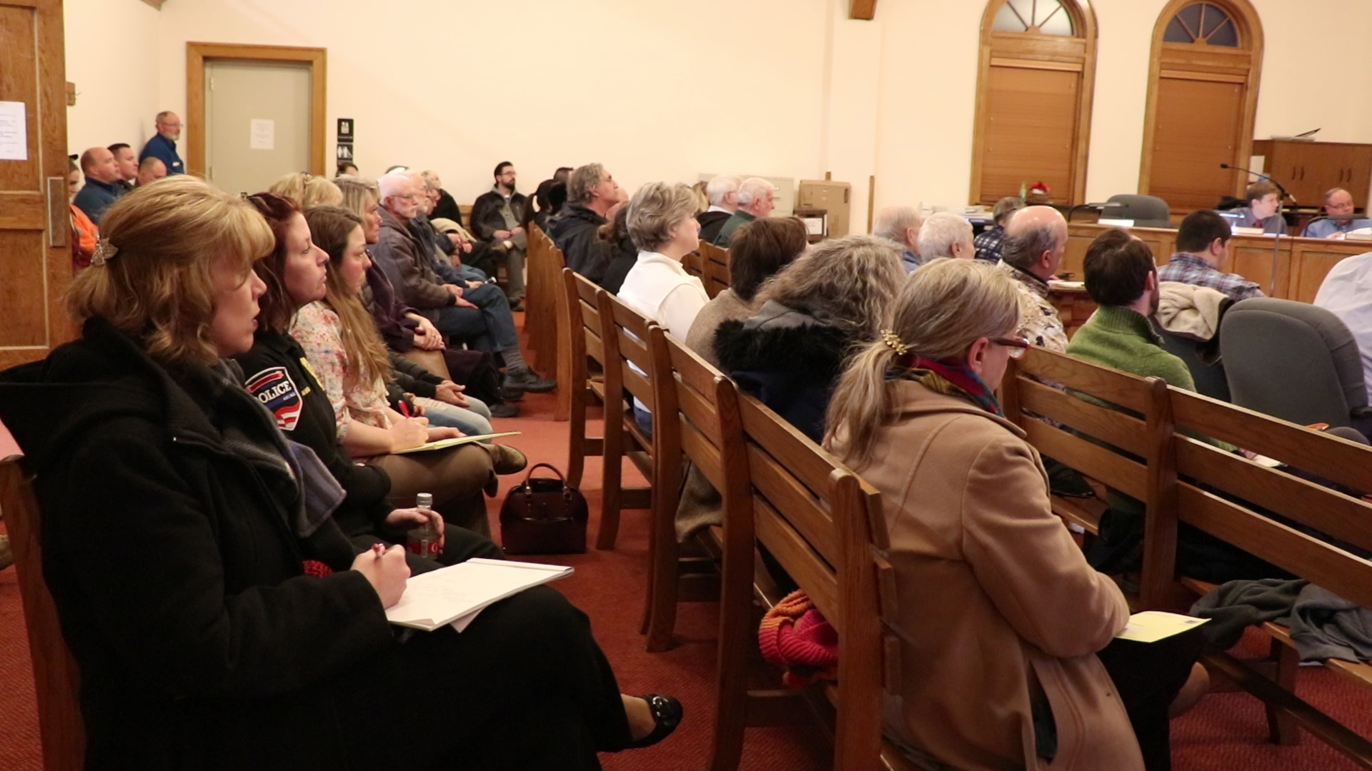 This is a picture of Martinsville residents at the March 4 Common Council Meeting.