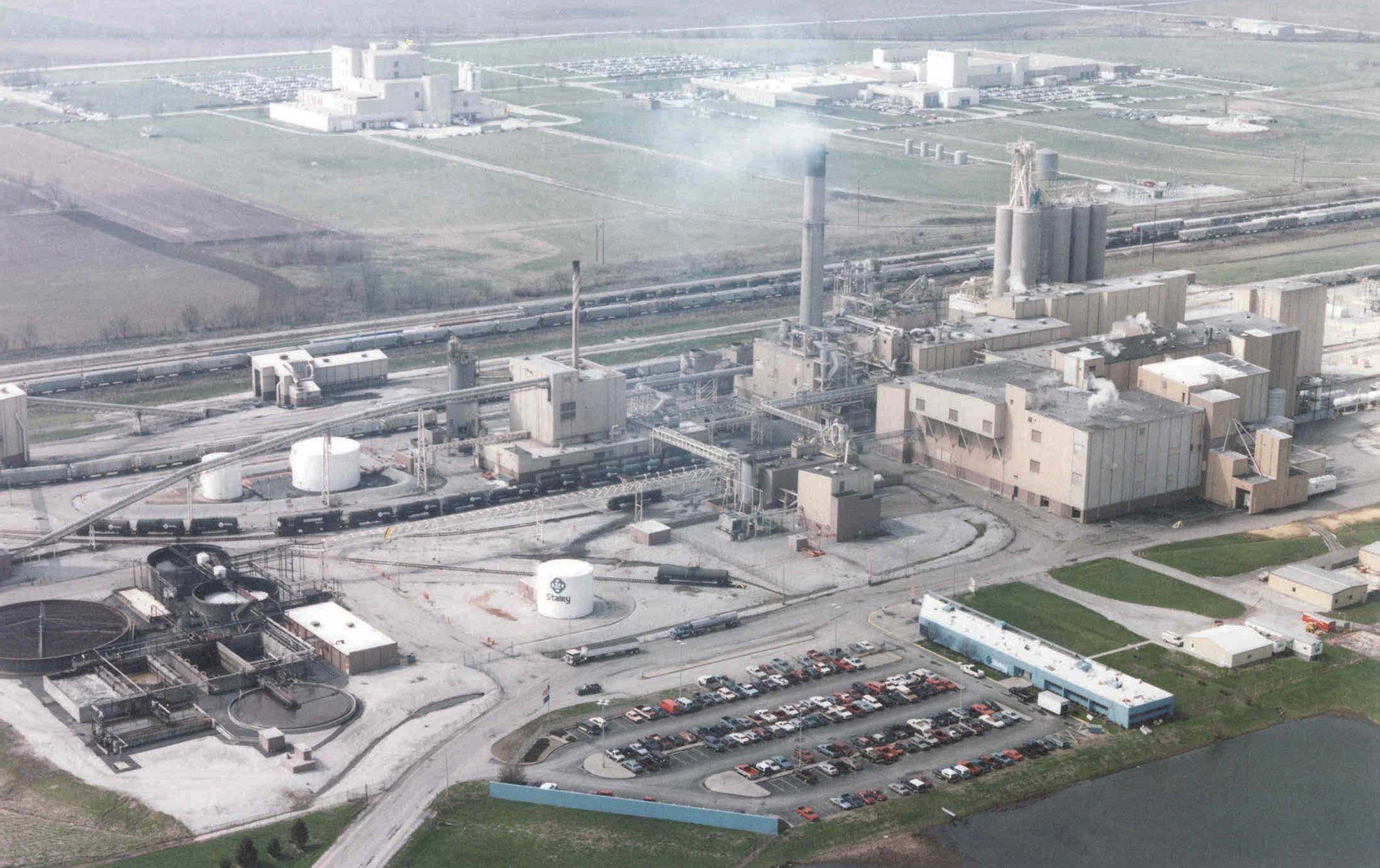 This is an aerial photo of Tate & Lyle's Lafayette South facility in Lafayette, Indiana.