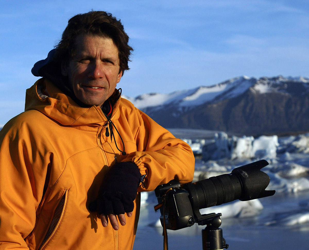 This is a photo of photographer James Balog.