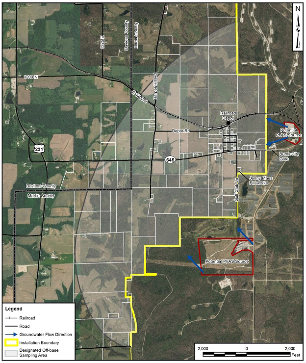 This is a picture of the area that may be affected by PFAS contamination.