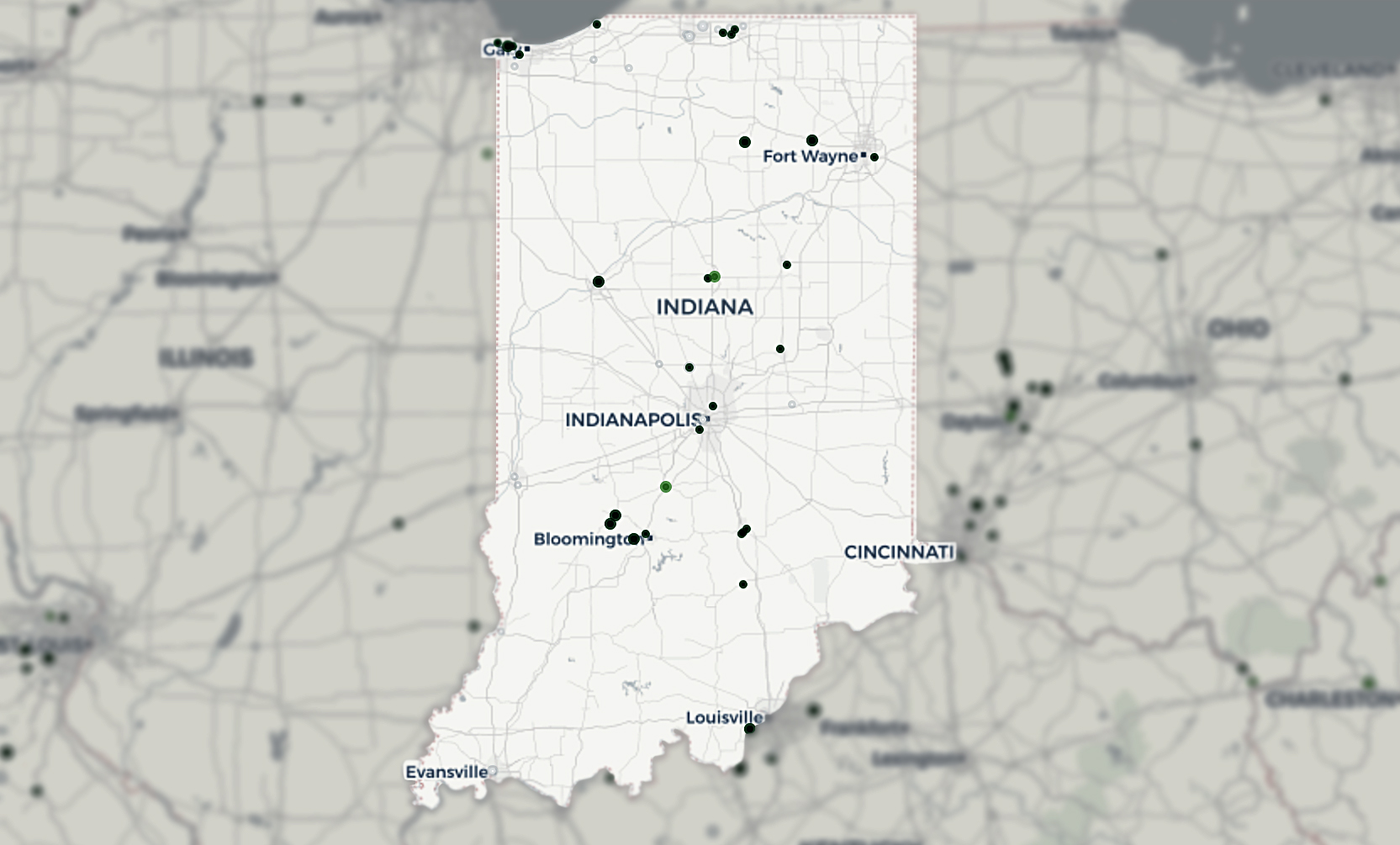 Indiana Superfund sites that could be affected by climate change impacts.