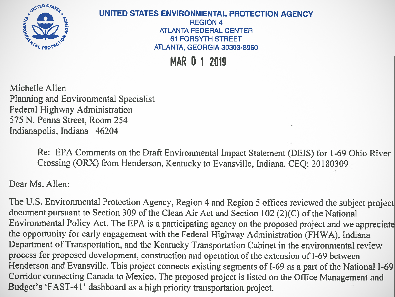 EPA letter