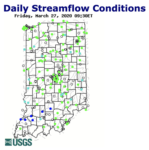 USGS streamflow readings