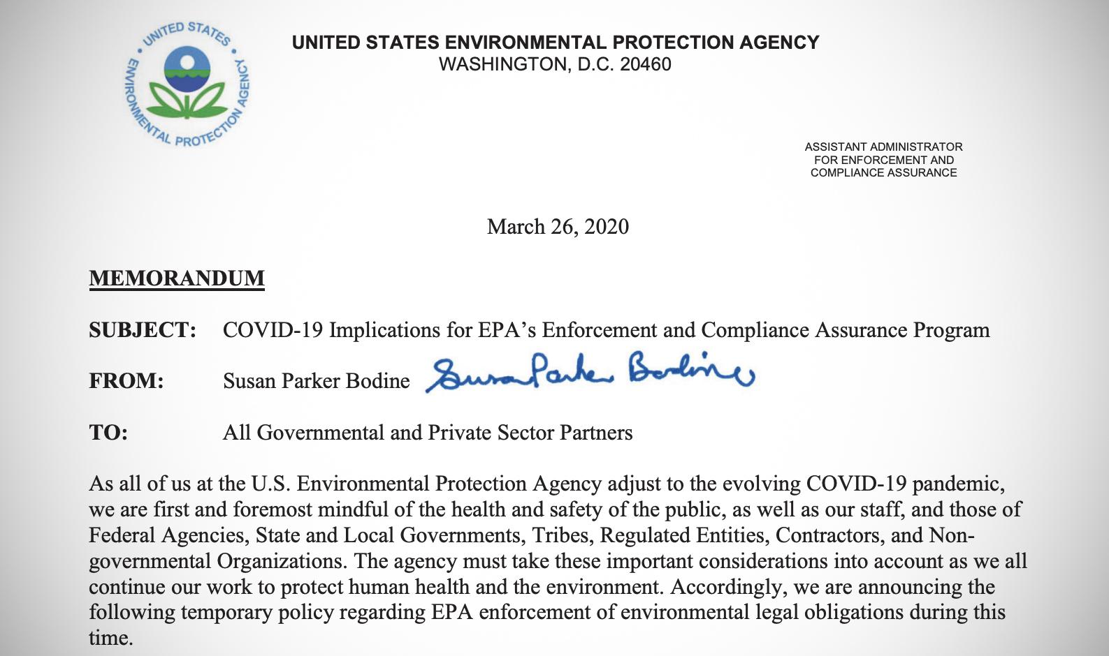 EPA policy